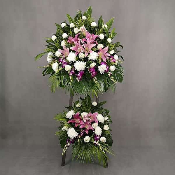 condolence flower stand