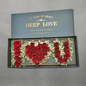 I love u flower box
