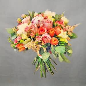 wedding bouquet peony