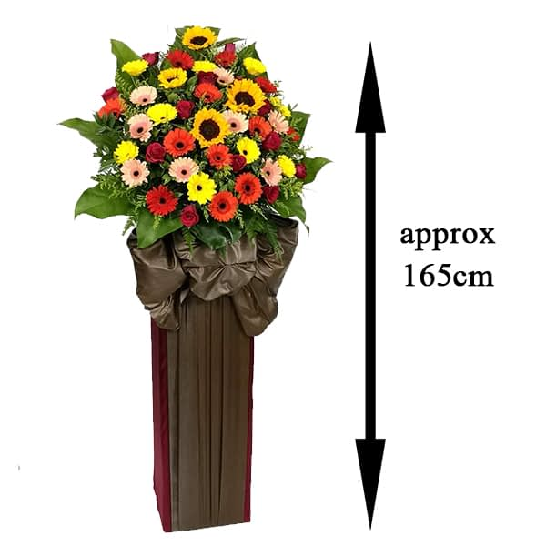 opening flowers stand