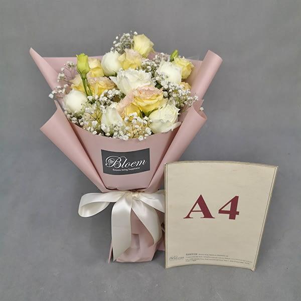 rose eustoma bouquet
