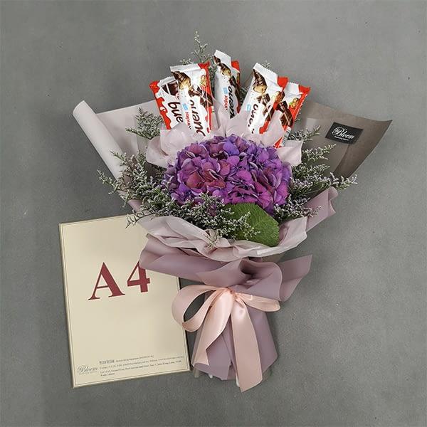 hydrangea snack bouquet