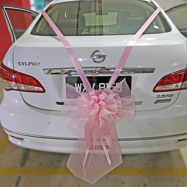 Wedding car deco