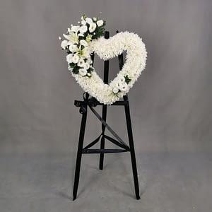 Heart shape funeral flowers