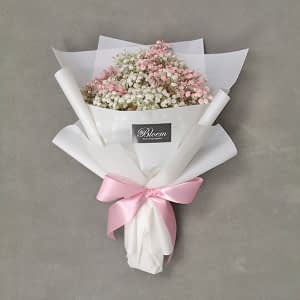 Pink baby's breath bouquet