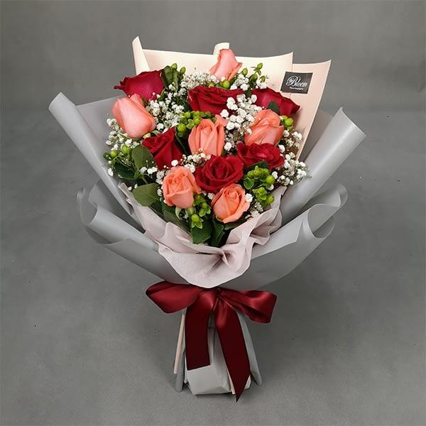 HB092 RM180 12 roses
